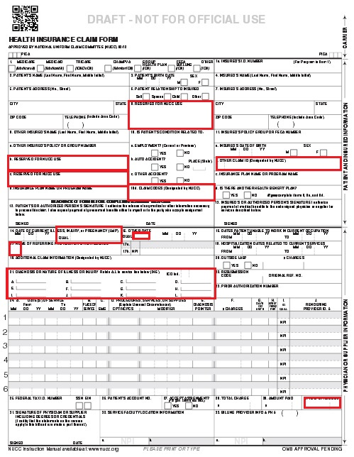 Box 21 has been changed to accommodate 12 diagnosis codes and an ICD 9 ...